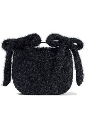 SIMONE ROCHA Bow-embellished tinsel shoulder bag