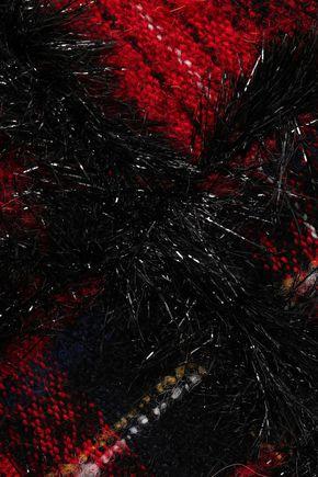 SIMONE ROCHA Embellished checked bouclé-tweed shoulder bag
