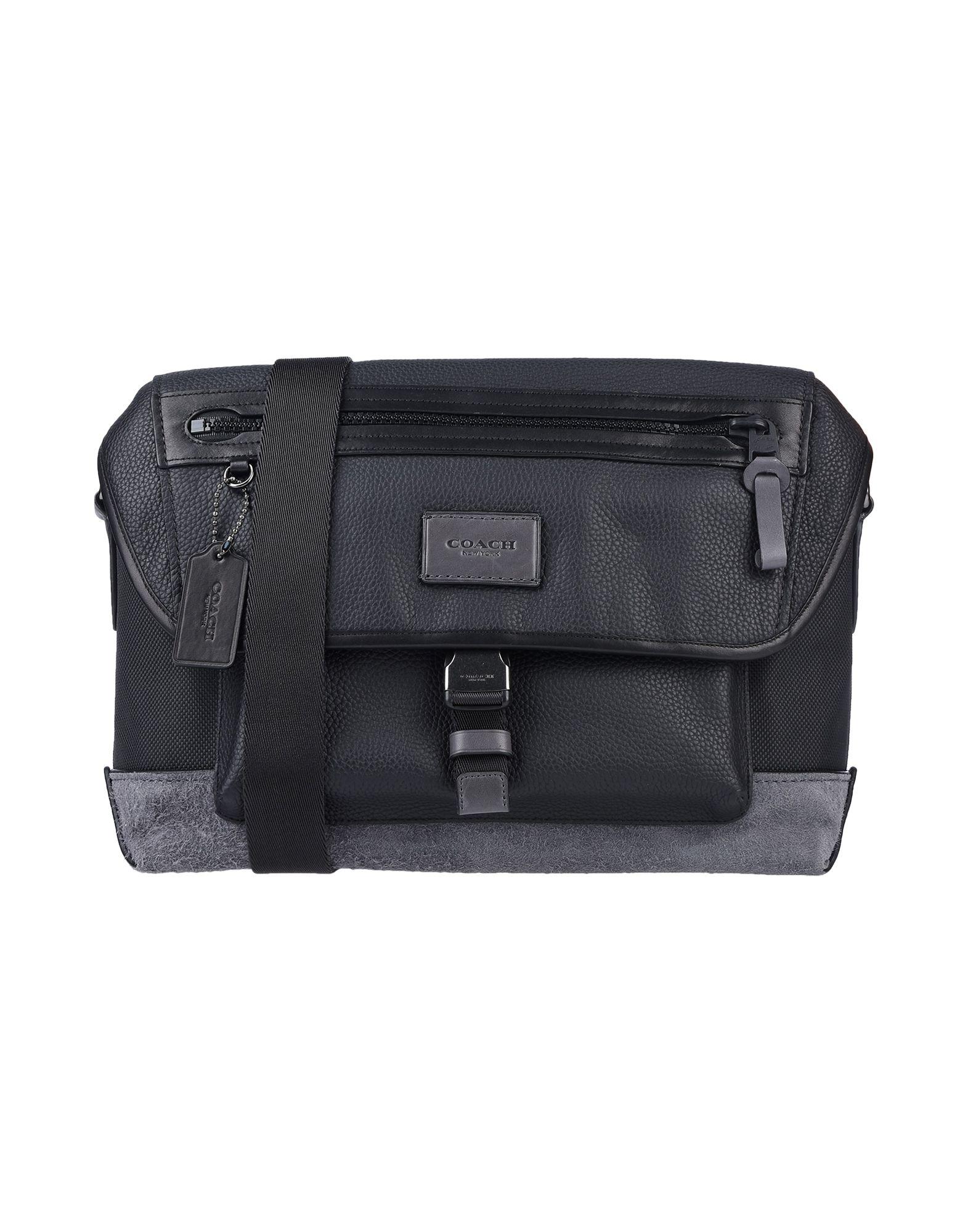 38d9a2f44418 《限定セール中》COACH メンズ メッセンジャーバッグ ブラック 革 / 紡績繊維