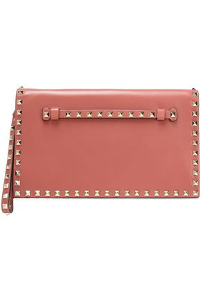VALENTINO GARAVANI Studded leather clutch