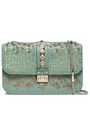 VALENTINO GARAVANI Lock sequin-embellished leather shoulder bag