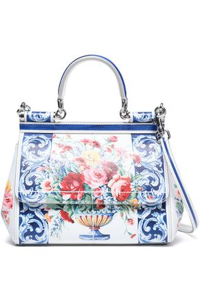DOLCE & GABBANA Sicily printed leather tote