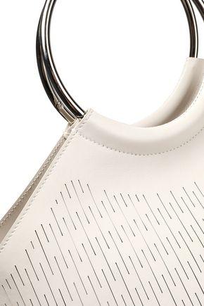 JIL SANDER Large sliced logo-print leather tote