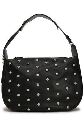 VERSUS VERSACE Studded crystal-embellished leather shoulder bag