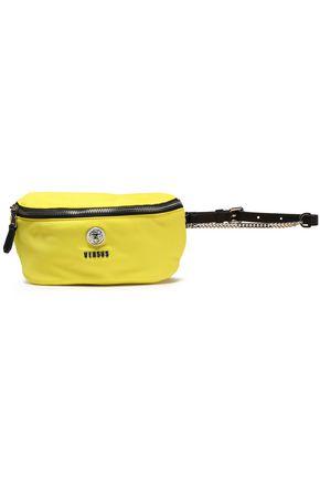 VERSUS VERSACE Leather-trimmed shell belt bag