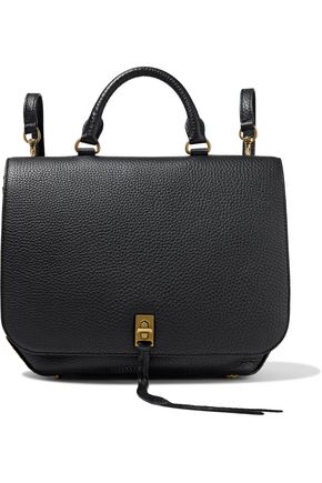 REBECCA MINKOFF Darren convertible pebbled-leather backpack
