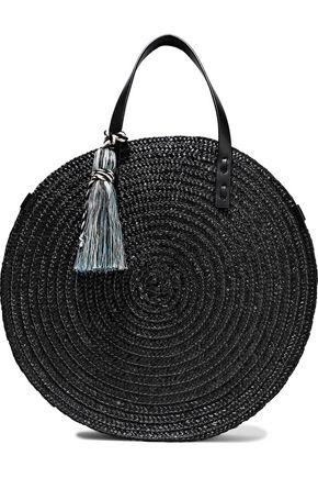 REBECCA MINKOFF Tasseled woven straw tote