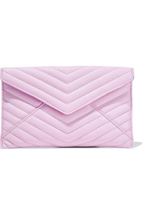 REBECCA MINKOFF Leo quilted textured-leather pouch