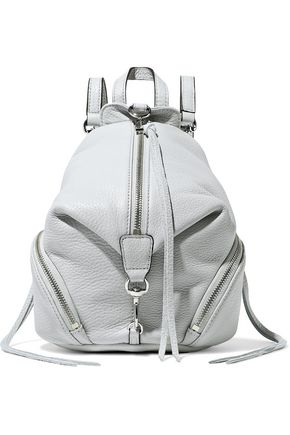 REBECCA MINKOFF Pebbled-leather backpack