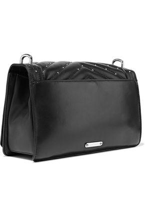 REBECCA MINKOFF Love studded quilted leather shoulder bag