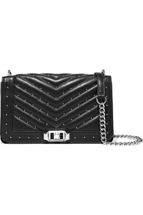 REBECCA MINKOFF Love studded quilted leather shoulder bag