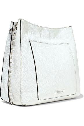 REBECCA MINKOFF Darren studded pebbled-leather shoulder bag