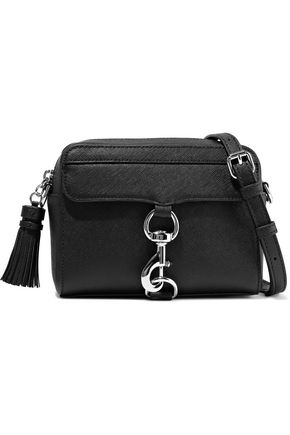 REBECCA MINKOFF M.A.B. tasseled textured-leather shoulder bag