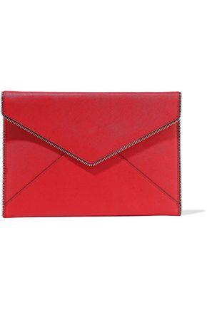 REBECCA MINKOFF Leo zip-embellished leather envelope clutch