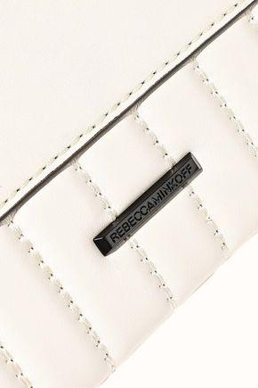 REBECCA MINKOFF Leo zip-embellished quilted leather envelope clutch