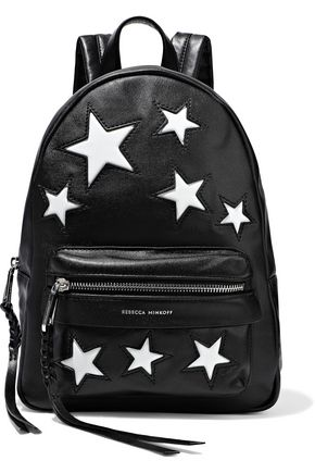 REBECCA MINKOFF M.A.B. appliquéd leather backpack