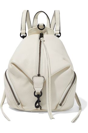 REBECCA MINKOFF Julian mini convertible pebbled-leather backpack