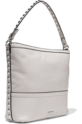 REBECCA MINKOFF Blythe studded smooth and textured-leather shoulder bag