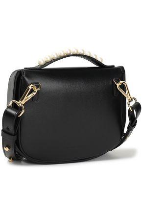 SIMONE ROCHA Faux pearl-embellished leather shoulder bag