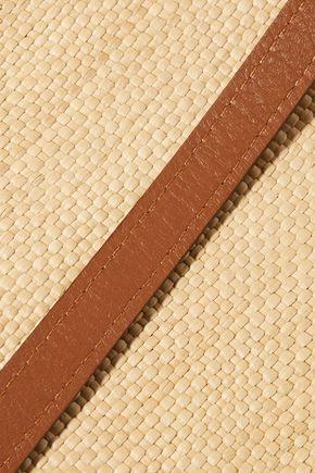HUNTING SEASON Raffia and leather tote