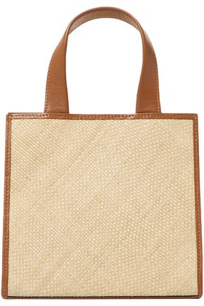 HUNTING SEASON Raffia and leather tote
