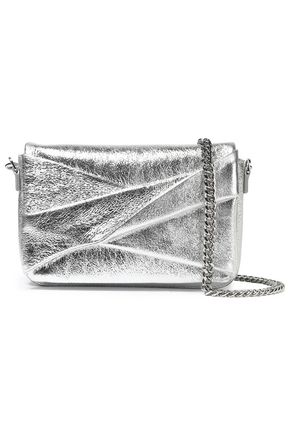 HALSTON HERITAGE Metallic crinkled-leather shoulder bag