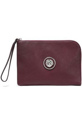 VERSUS VERSACE Embellished leather pouch