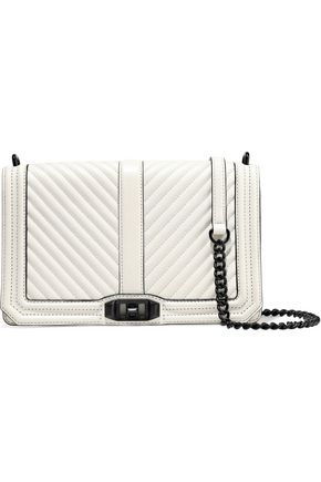 REBECCA MINKOFF Love quilted textured-leather shoulder bag