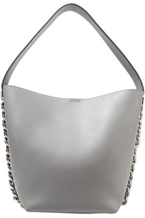 GIVENCHY Chain-trimmed leather bucket bag