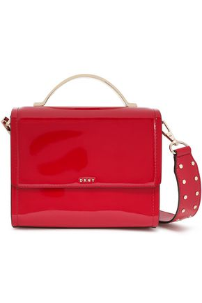 DKNY Faux patent-leather shoulder bag