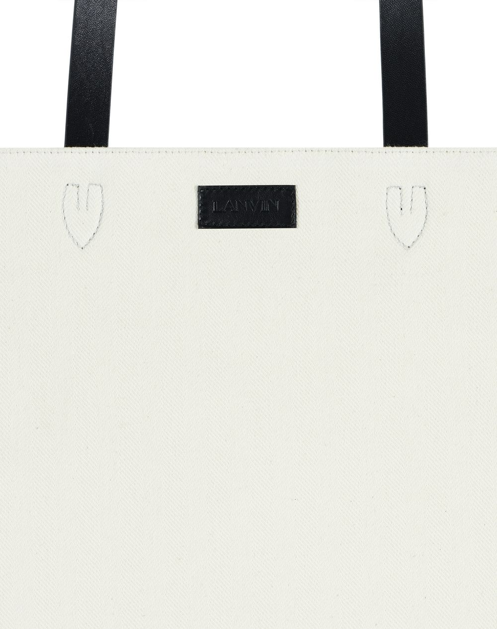 PRINTED COTTON TOTE BAG - Lanvin