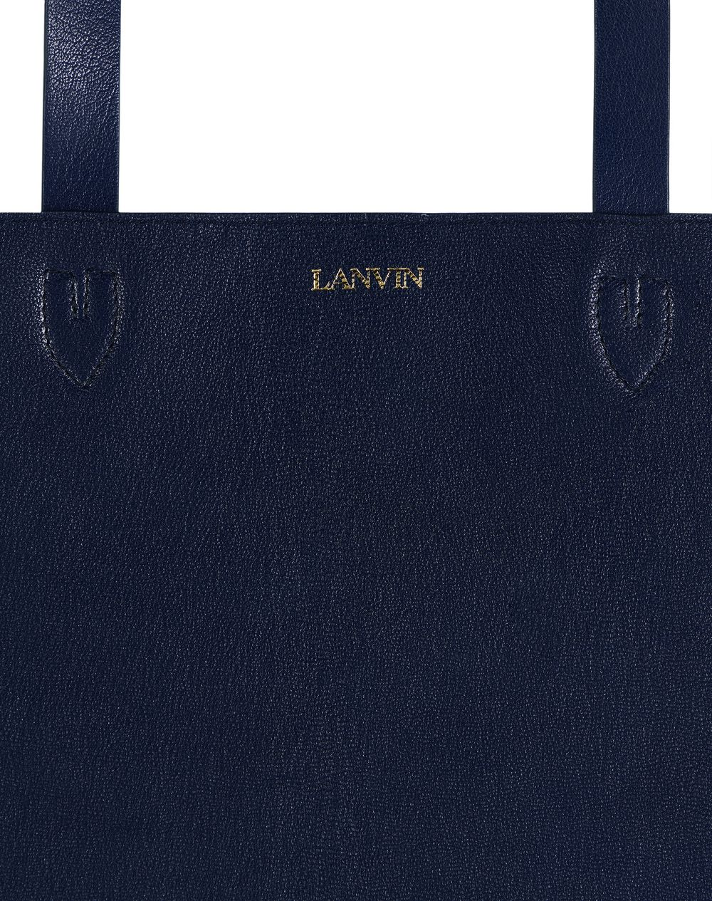 LEATHER TOTE BAG WITH SCRIPT PRINT - Lanvin