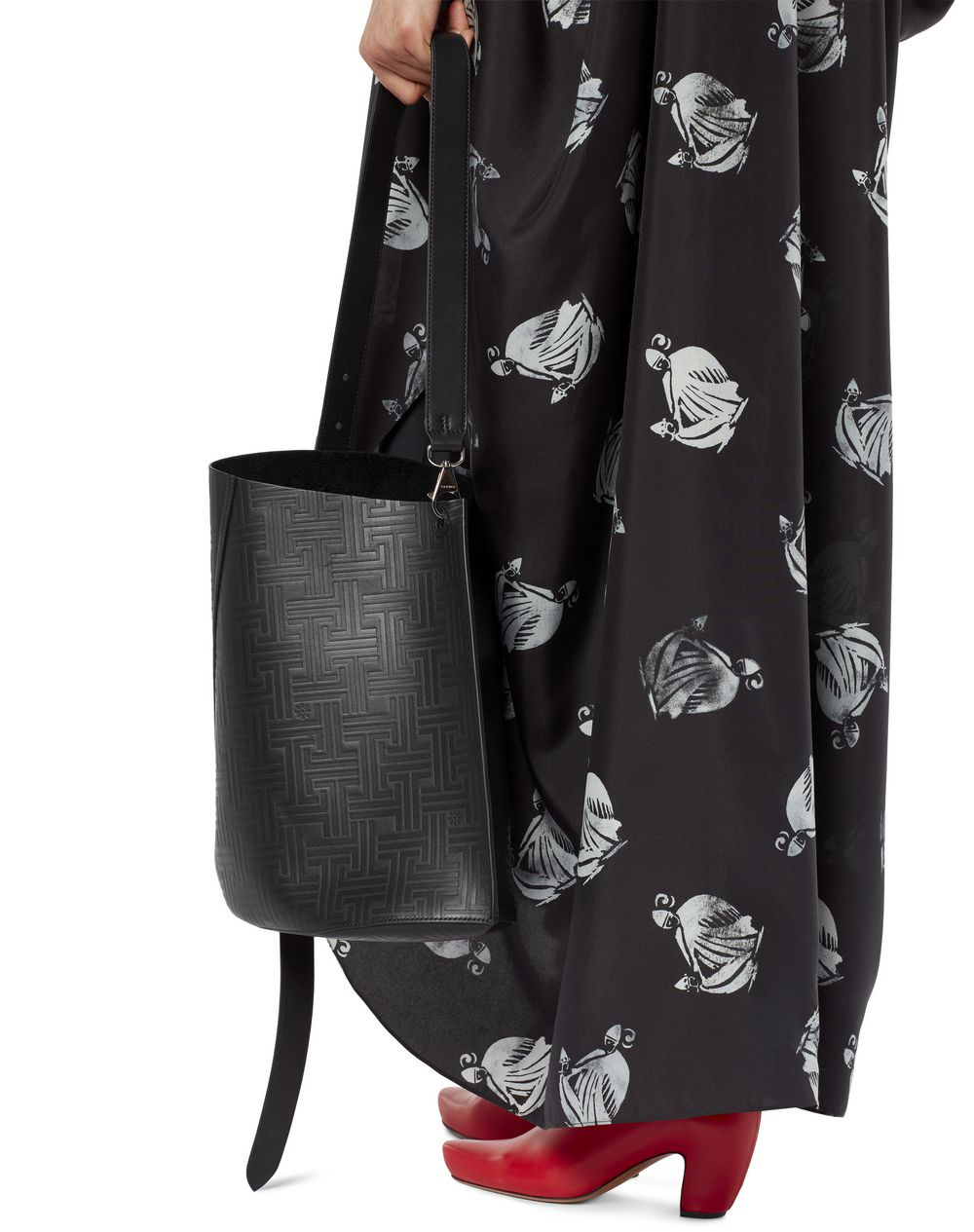 LARGE HOOK BAG WITH JL MOTIFS - Lanvin