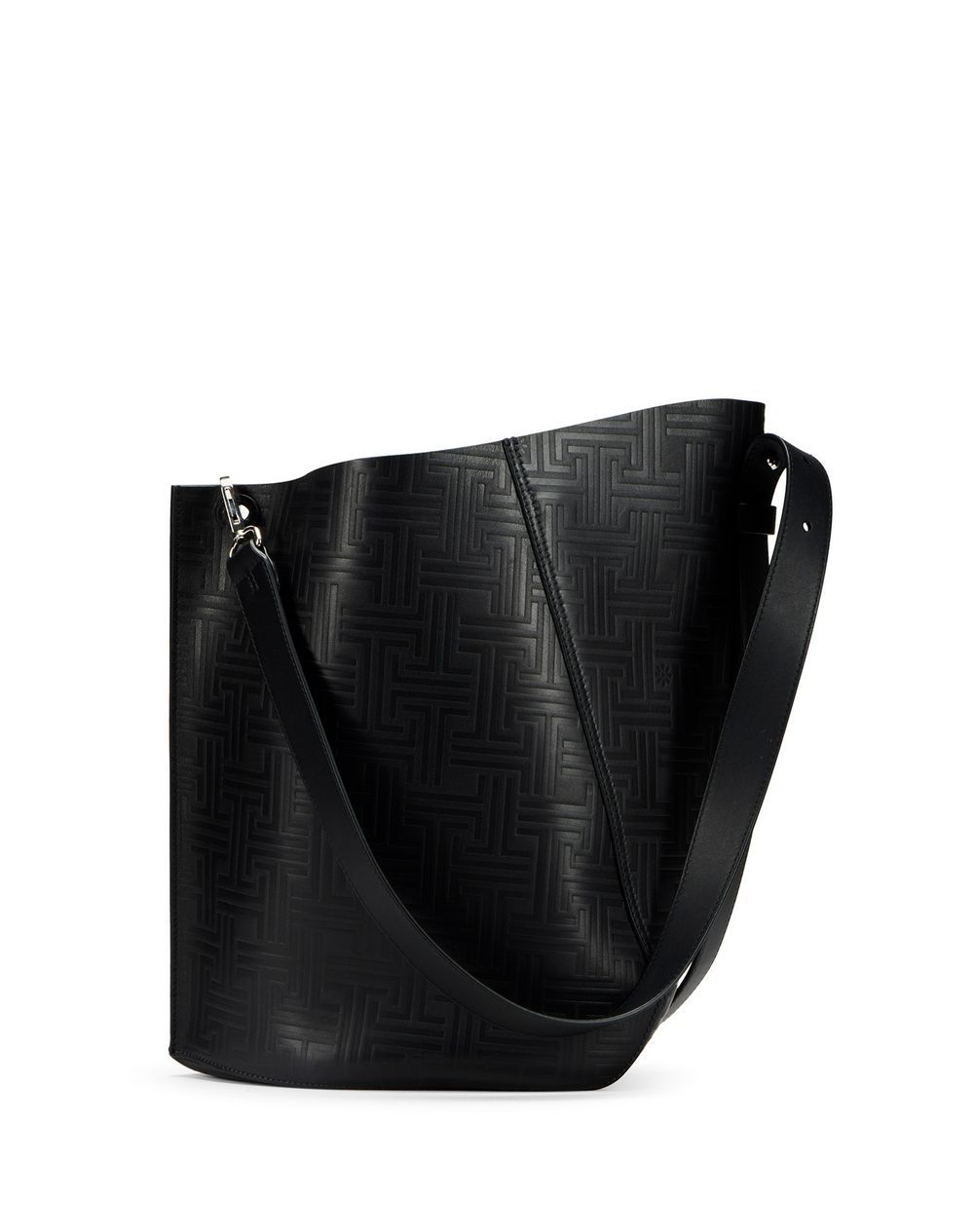 MEDIUM HOOK BAG WITH JL MOTIFS - Lanvin