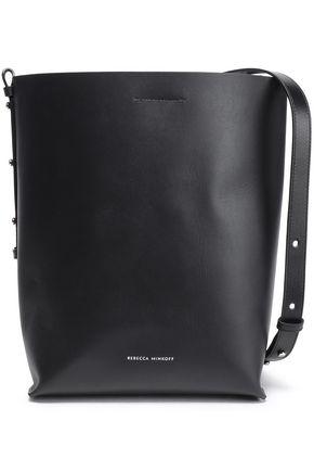 REBECCA MINKOFF Chain-trimmed leather bucket bag