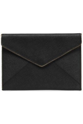REBECCA MINKOFF Leo zip-embellished leather clutch