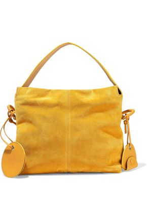 ACNE STUDIOS Leather-trimmed suede tote