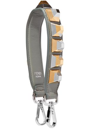 FENDI Studded leather bag strap