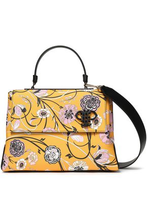 EMILIO PUCCI Floral-print faux textured-leather tote
