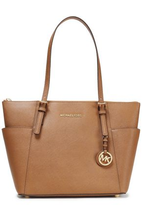 MICHAEL MICHAEL KORS Logo-embellished textured-leather tote