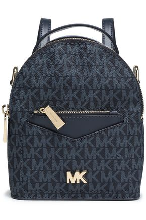 MICHAEL MICHAEL KORS Convertible two-tone printed textured-leather backpack