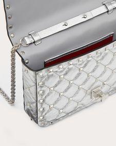 Small Rockstud Spike Metallic Nappa Chain Bag