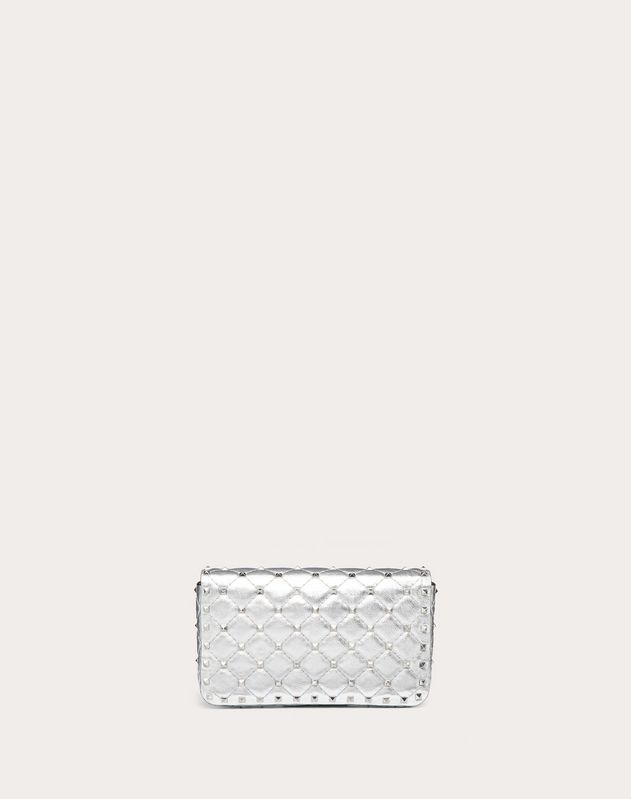 Small Rockstud Spike Metallic Nappa Chain Bag
