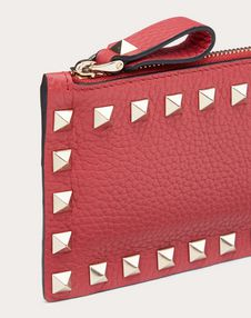 ROCKSTUD GRAINY CALFSKIN COIN PURSE