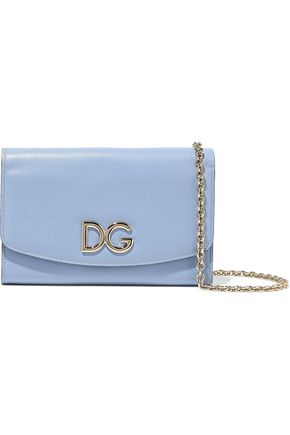 DOLCE & GABBANA Embellished textured-leather clutch