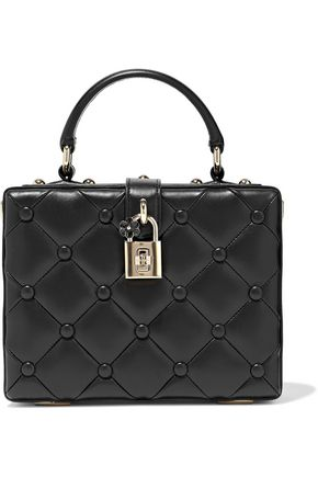 DOLCE & GABBANA Dolce Box studded quilted leather shoulder bag