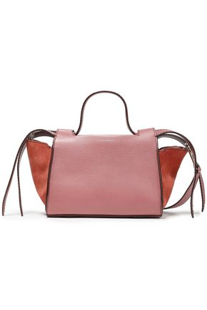 ELENA GHISELLINI Usonia paneled suede and leather tote
