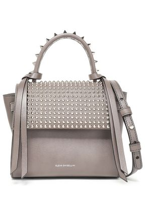 ELENA GHISELLINI Angel studded textured-leather shoulder bag