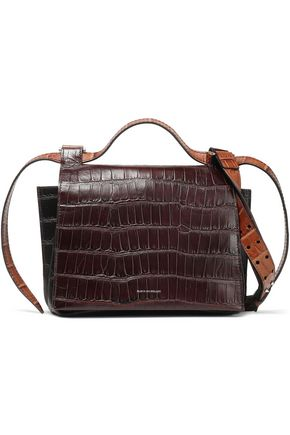 ELENA GHISELLINI Foxy croc-effect leather shoulder bag