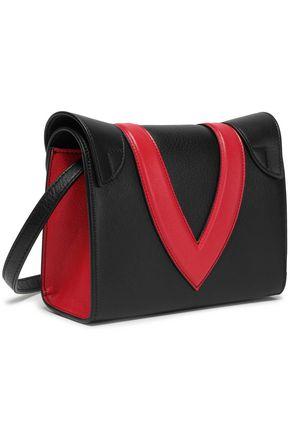 ELENA GHISELLINI Felina appliquéd textured-leather clutch